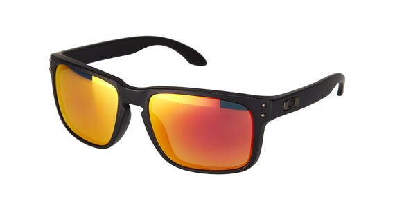 Oakley Holbrook matte black/ruby iridium polarized
